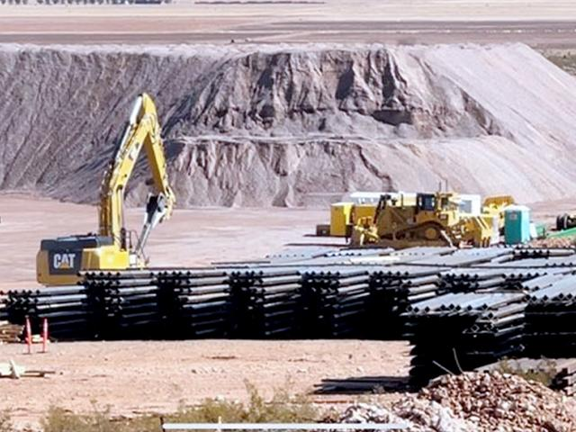 U.S. border wall halted in New Mexico (Photo: Chuck Holton/CBN News)