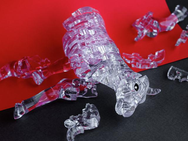 broken glass figurine
