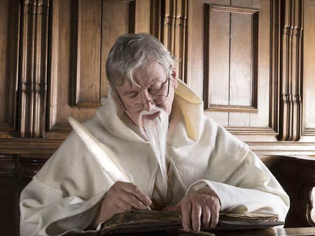 Monk writing