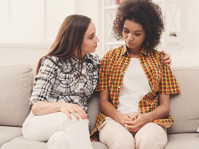 Friends talk