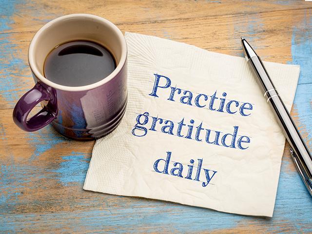 practice gratitude daily