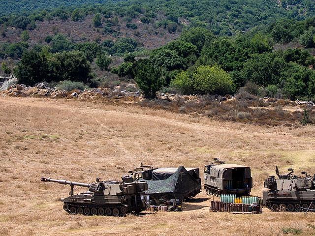 Israeli soldiers near the border with Lebanon, northern Israel, Wednesday, Aug. 26, 2020. (AP Photo/Ariel Schalit)