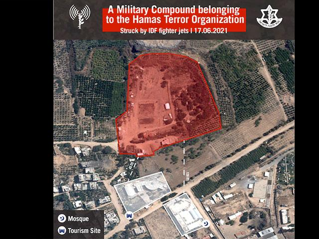 Military Compounds Belonging To The Hamas Terror Organization Photo Credit: IDF