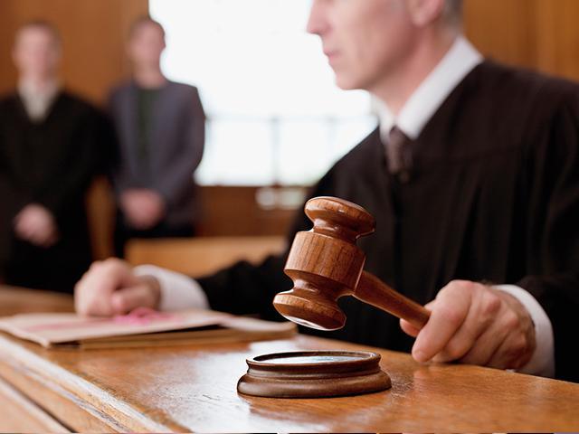 courtroom judge using gavel