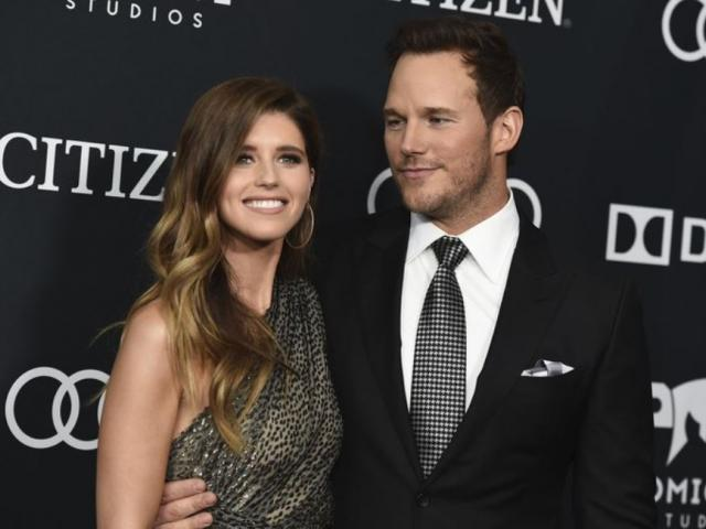 """In this April 22, 2019, file photo, Katherine Schwarzenegger, left, and Chris Pratt arrive at the premiere of """"Avengers: Endgame,"""" at the Los Angeles Convention Center.  (Photo by Jordan Strauss/Invision/AP, File)"""