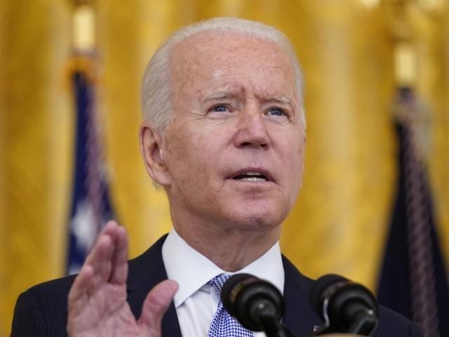 President Joe Biden speaks about COVID-19 vaccine requirements for federal workers in the East Room of the White House in Washington, Thursday, July 29, 2021. (AP Photo/Susan Walsh)