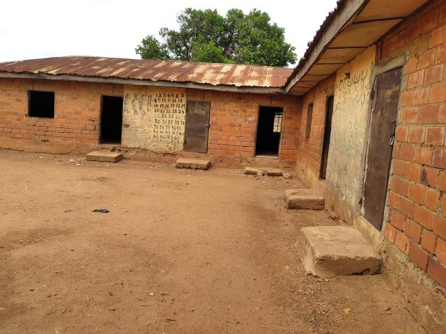 FILE - This Tuesday, June 1, 2021, file photo, shows the classrooms of the Salihu Tanko Islamic School where students were abducted in Tegina, Nigeria. (AP Photo/Mustapha Gimba, File)