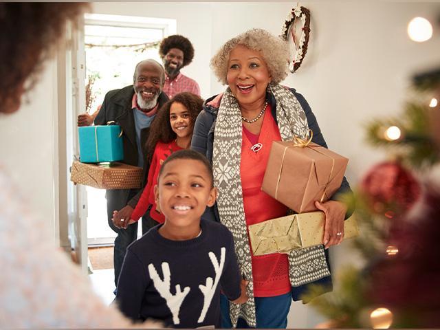 Christmas family grandparent visit
