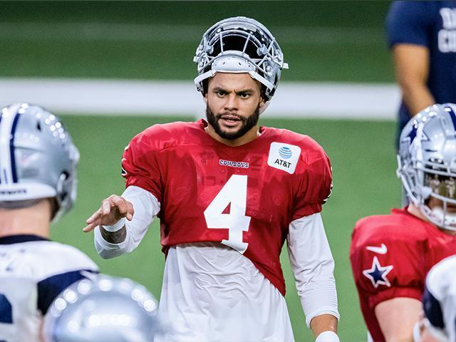 Dallas Cowboys quarterback Dak Prescott  (AP Photo/Brandon Wade)