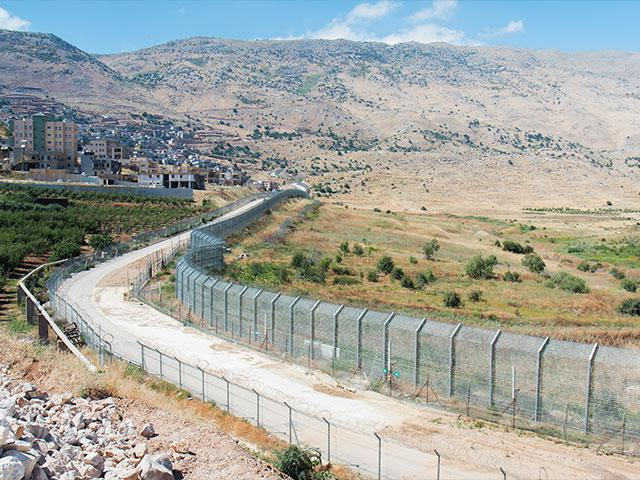 Golan Heights at Syrian Border, Photo, CBN News, Jonathan Goff
