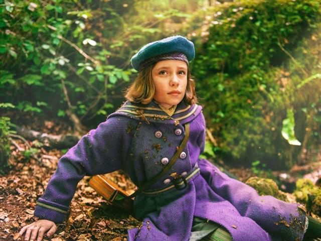 The Secret Garden Mary wearing purple coat