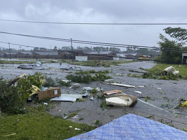 Tropical Storm Claudette demolished or badly damaged at least 50 homes in the small town just north of the Florida border. (Alicia Jossey via AP)
