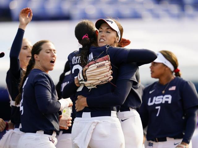 U.S. Softball Team (AP Photo/Matt Slocum)