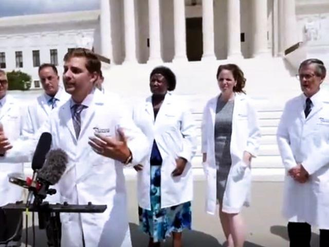 Physicians at the America's Frontline Doctors Summit challenged the media's blockade against medical opinions and studies on the effectiveness of hydroxychloroquine. (Photo: Screen capture via Breitbart video)