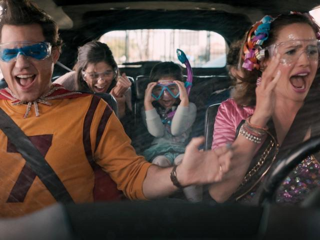 Yes Day movie carwash scene