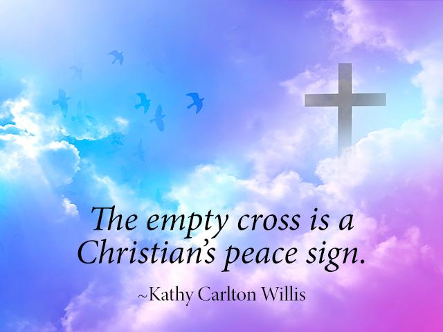 The empty cross is a Christian