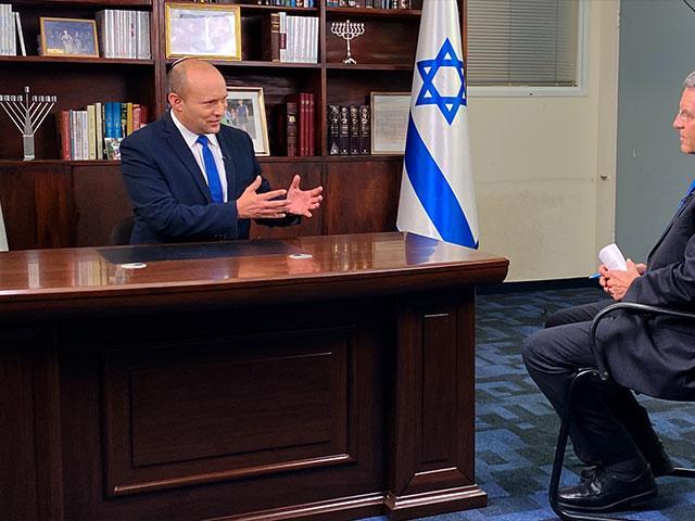 Interview with Naftali Bennett, Photo Credit: CBN News