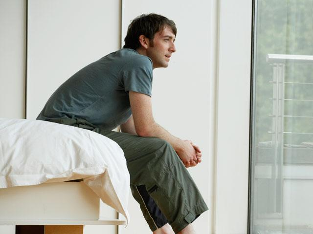 Contemplative young man