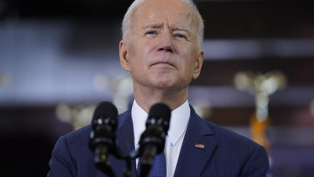 President Joe Biden delivers a speech on infrastructure spending at Carpenters Pittsburgh Training Center in Pittsburgh
