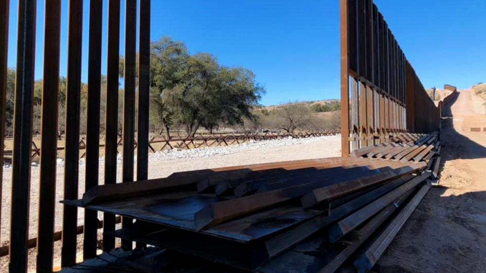 Biden halted border wall construction, leaving gaps in the fence. (Photo courtesy: Sen. James Lankford via Facebook)