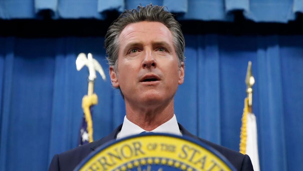 This July 23, 2019 photo shows California Gov. Gavin Newsom during a news conference in Sacramento, Calif. (AP Photo/Rich Pedroncelli)