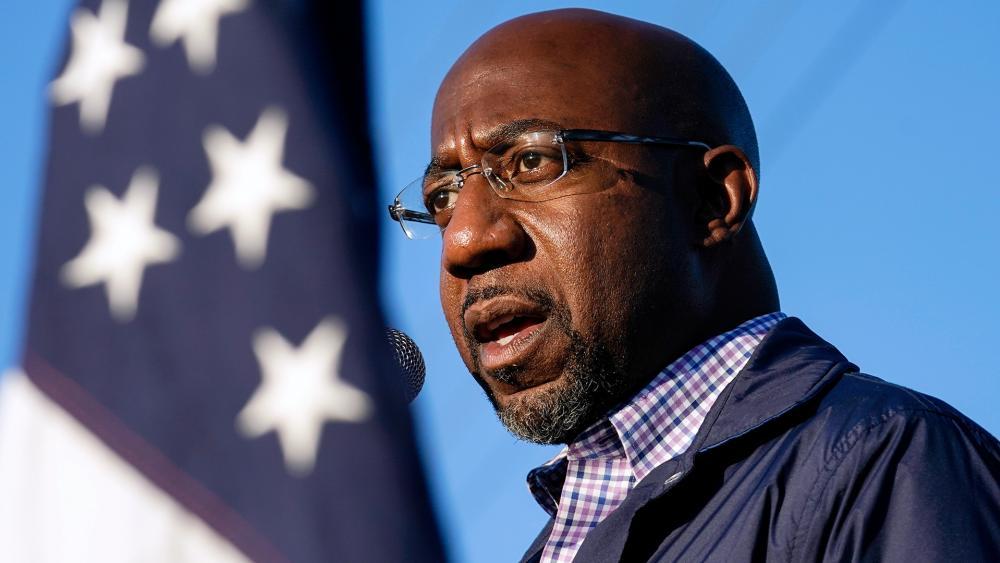 Democratic candidate for the U.S. Senate, Raphael Warnock (AP Photo/Brynn Anderson)