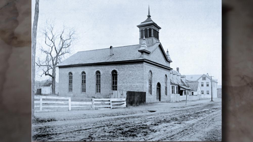 Historic black church – First Baptist in Williamsburg (screen capture from WGR1017)