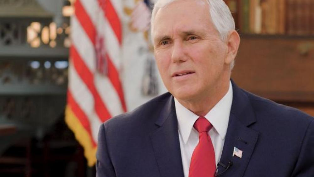 Vice President Mike Pence. (Image credit: CBN News)