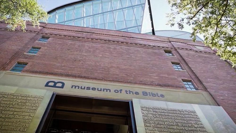 Entrance to the Museum of the Bible in Washington, D.C. (Image credit: CBN News)