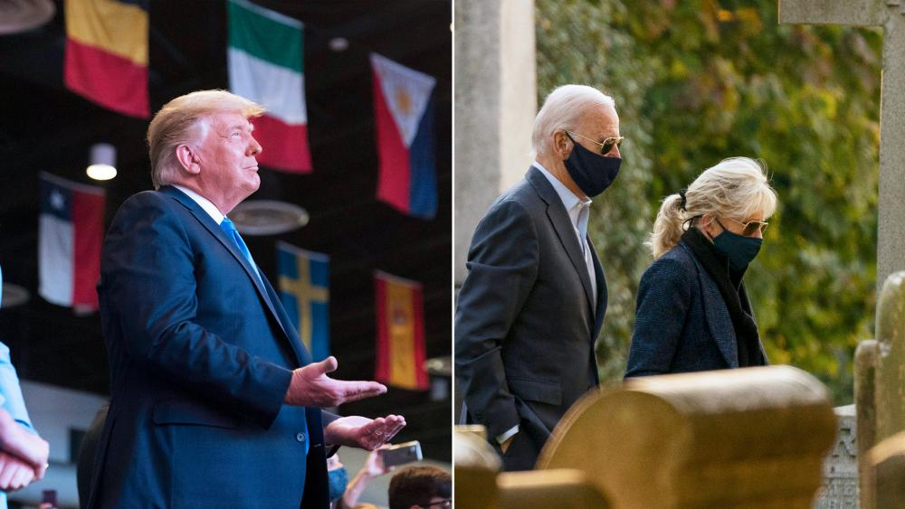 President Trump and former Vice President Joe Biden attended church on the campaign trail this weekend (AP Photos)